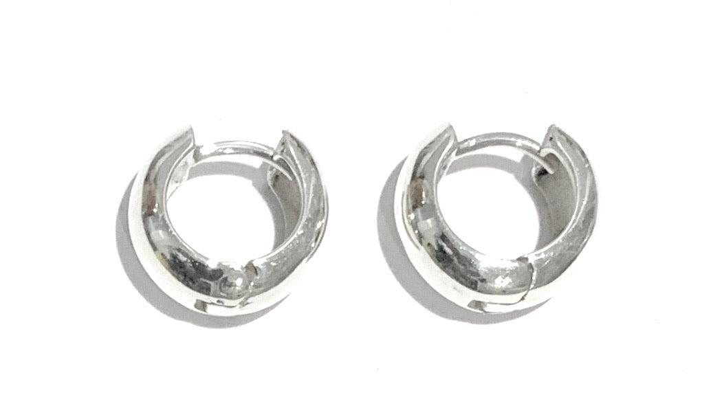 Silver Huggies Earrings - A754