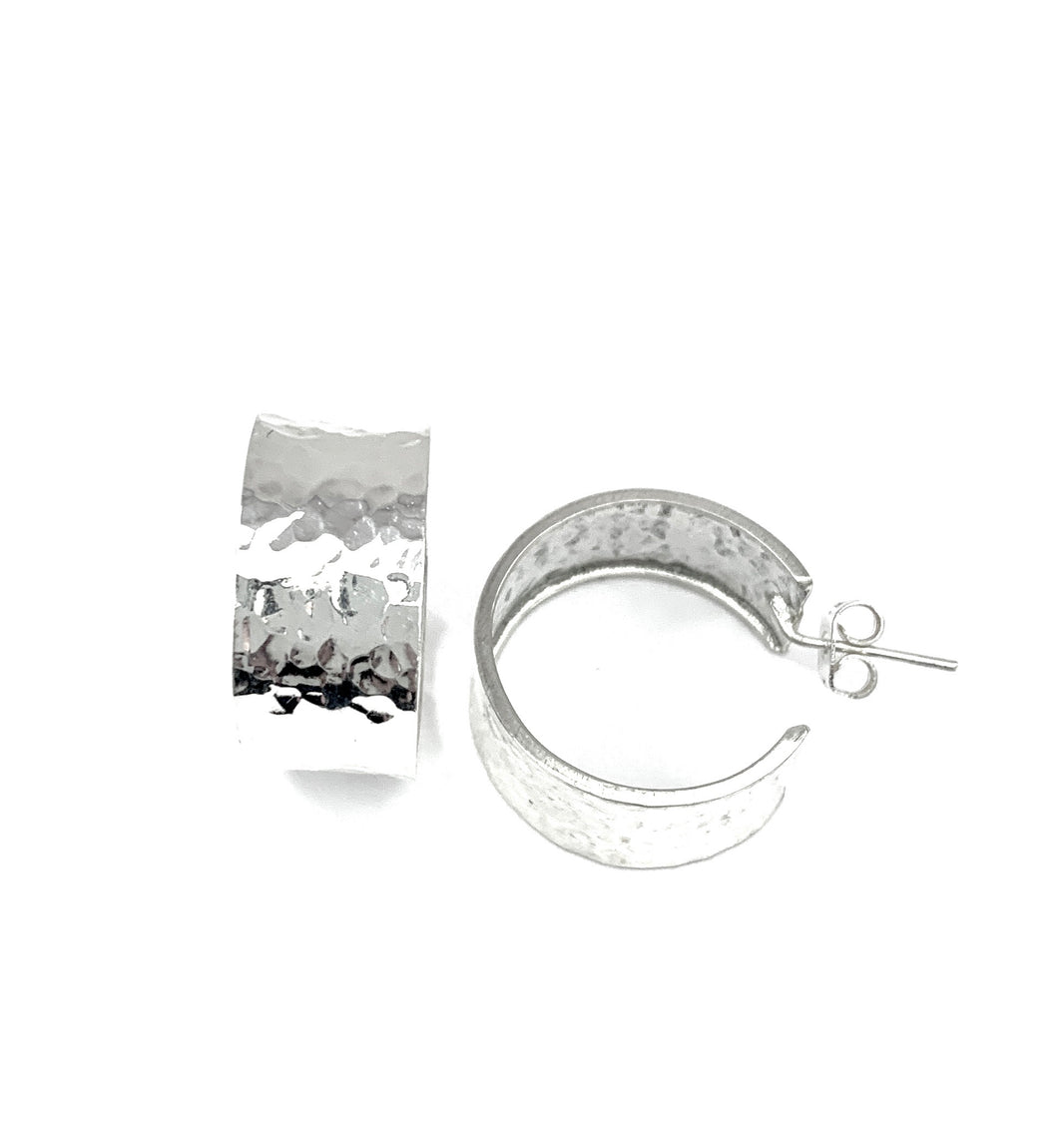 Silver Hoop Earrings - FAA562