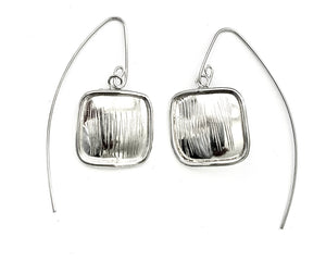 Silver Drop Earrings - AH873