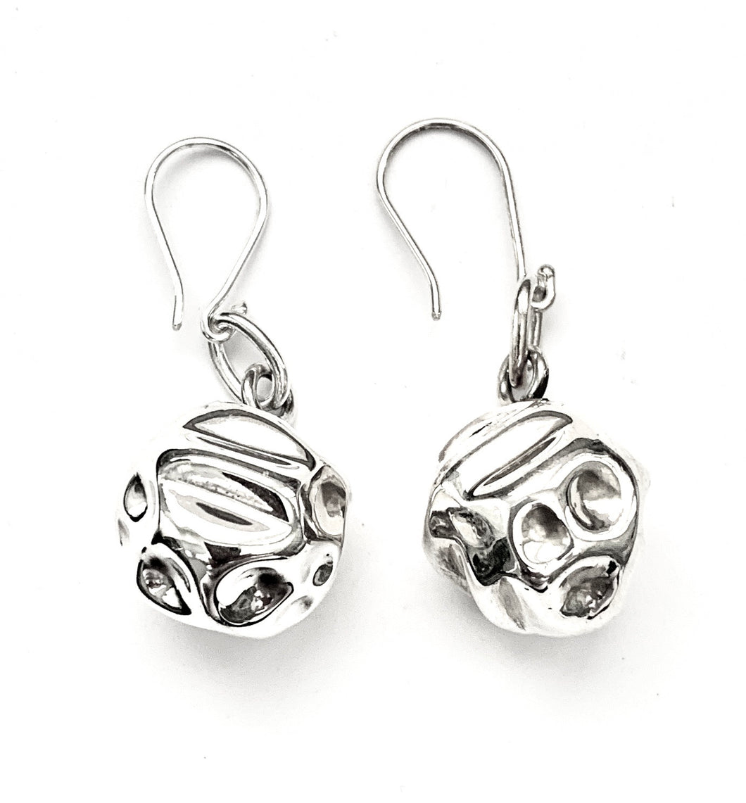 Silver Drop Earrings - PPA335