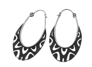Silver Hoop Earrings - A9113