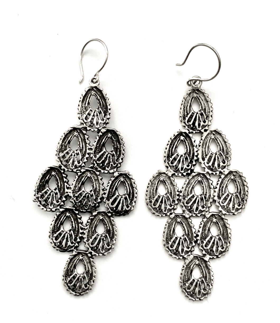 Silver Drop Earrings - WA369