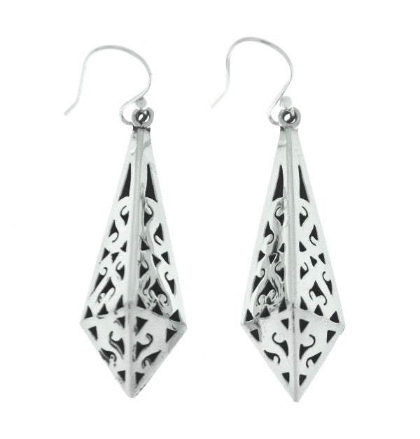 Silver Drop Earrings - A7080