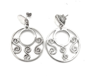 Silver Drop Earrings - A671