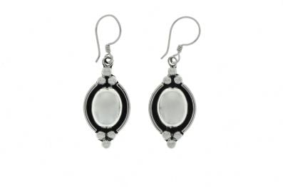 Silver Drop Earrings - A280.