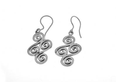 Silver Drop Earrings - A3157.