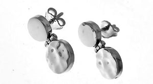 Silver Stud Earrings - A3186.