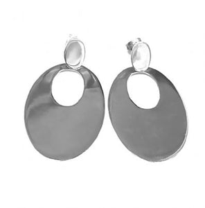 Silver Drop Earrings - A5165.