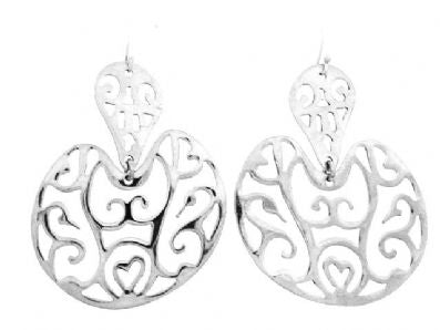 Silver Drop Earrings - A5228.