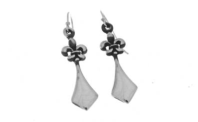 Silver Drop Earrings - A5327.