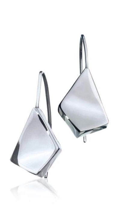 Silver Drop Earrings - A8001.