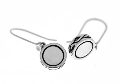 Silver Drop Earrings - A9076.