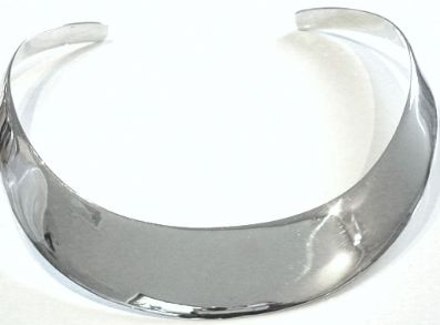 Silver Choker Necklaces - G138.