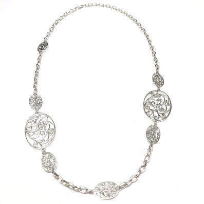 Silver Necklace - C685.