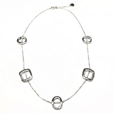 Silver Necklace - C6114.