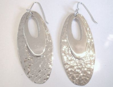 Silver Drop Earrings - Oka678.