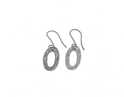 Silver Drop Earrings - Oka690.