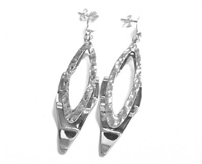 Silver Drop Earrings - Ppa281.