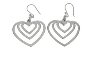 Silver Drop Earrings - Ppa437.