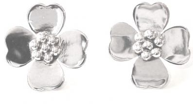 Silver Stud Earrings - Wa313.