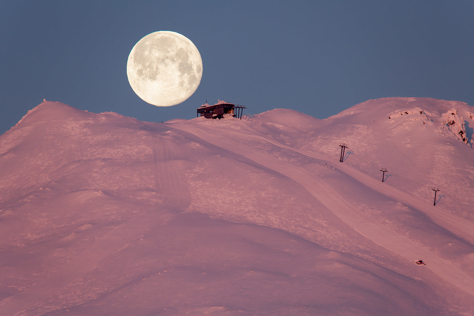 MT. BACHELOR FULL MOONSET