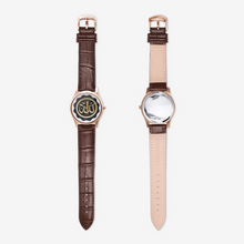 Load image into Gallery viewer, Allah Goldenseal Brown Quartz Watch for Sisters with Arabic Script