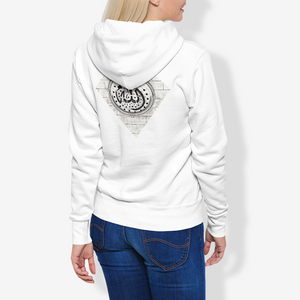 Allah Diamond Brick Women's Pullover Hoodie with Arabic Script