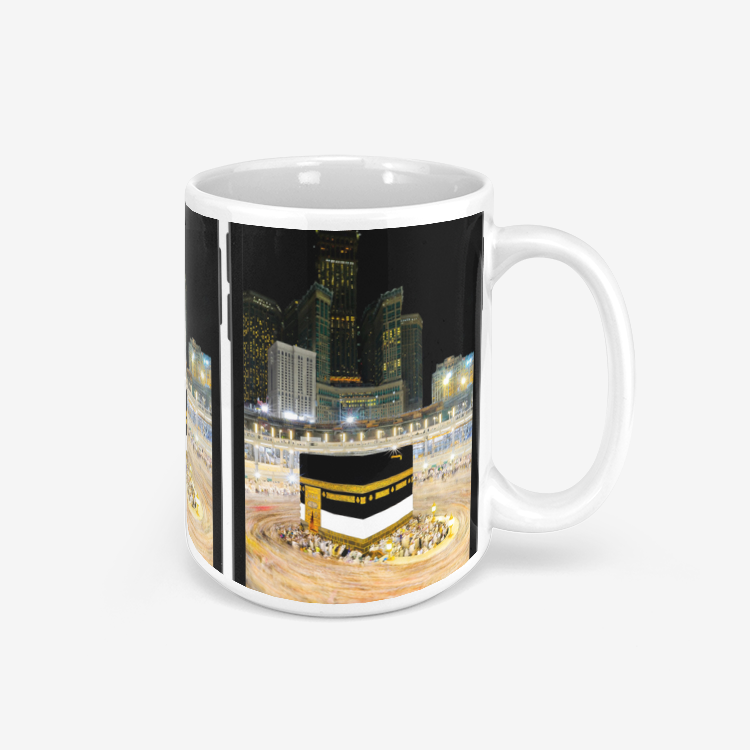 Kaaba Triple Phone Mug for Coffee & Tea with Mecca Visual