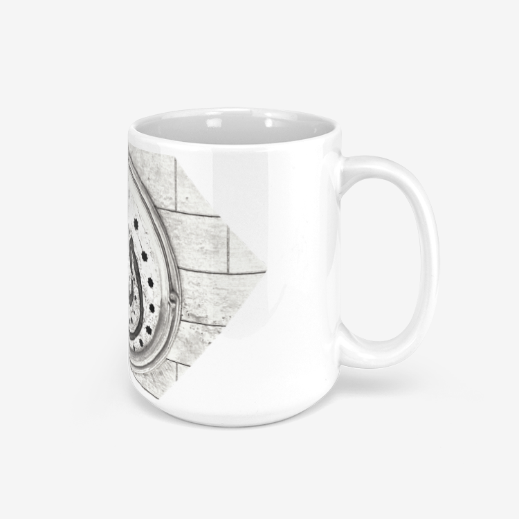 Allah Polygon Brick Mug for Coffee and Tea with Arabic Script