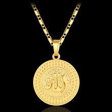 Load image into Gallery viewer, New arrival Round Middle East Muslim Allah pendant necklace for women/men Gold/Silver color Religious jewelry Accessories gift