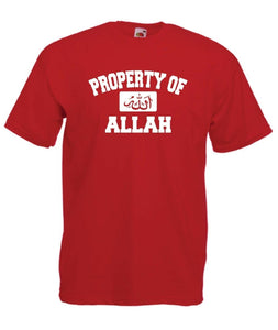 Property of Allah Islam Muslim New Top 2019 Fashion High Quality Brand of Funny Homme Fashion Men Tops T Shirt Design