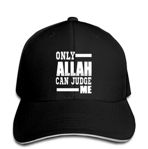 ONLY ALLAH (GOD) CAN JUDGE ME Men Baseball Cap Adult & n MUSLIM ISLAM MUHAMMED Snapback Cap Women Hat Peaked