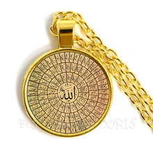 Load image into Gallery viewer, Gold-color 25mm Glass Muslim Islamic Allah Arab Muslim Necklace For Muhammad Religious Middle Jewelry Ramadan Gift For Friends