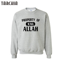 Load image into Gallery viewer, TARCHIA 2019 new male pullover hoodies property of allah sweatshirt personalized men boy casual parental survetement homme