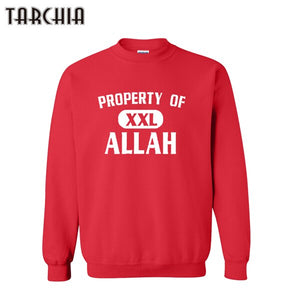 TARCHIA 2019 new male pullover hoodies property of allah sweatshirt personalized men boy casual parental survetement homme