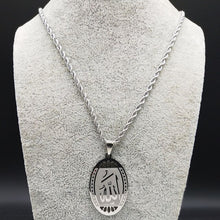 Load image into Gallery viewer, Allah Oval Statement Necklace