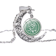 Load image into Gallery viewer, SONGDA Ramadan Gift Women islam Jewelry Muslim Islamic God Allah Dubai Arab Muhammad Religious Pendant Silver Color Necklace