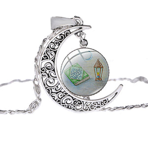 SONGDA Ramadan Gift Women islam Jewelry Muslim Islamic God Allah Dubai Arab Muhammad Religious Pendant Silver Color Necklace