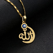 Load image into Gallery viewer, wholesale Evil eye New Fashion Rhinestone Simple Muslim Islamic Religious Totem Allah Women Men Chain Necklace Jewelry