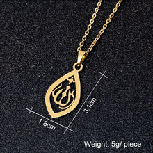 Load image into Gallery viewer, Middle East Arabia Muslim Allah Pendant Necklace Stainless steel gold colors Women Islamic Religious Jewerly Gift