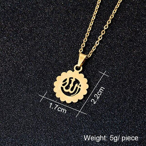 Middle East Arabia Muslim Allah Pendant Necklace Stainless steel gold colors Women Islamic Religious Jewerly Gift