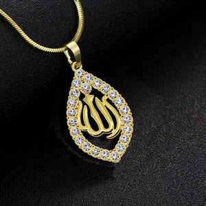 wholesale Gold/Silver/Rose gold Colors Allah Pendant Necklace Women Men Jewelry Middle East/Muslim/Islamic Arab Ahmed