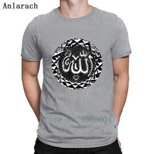Load image into Gallery viewer, Seal Allahes Arabic Writing Muslim Islam Arab T Shirt Round Collar Breathable Spring Autumn Vintage Unique Tee Shirt Shirt