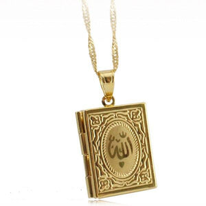 Koran Book Pendant Necklace