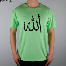 Load image into Gallery viewer, CALLIGRAPHY ALLAH Islam Religion T-shirt cotton Lycra top 10655 Fashion Brand t shirt men new DIY Style high quality