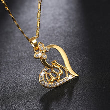 Load image into Gallery viewer, SONYA Arabic Women Heart Shape Gold-color Muslim Islamic God Allah Charm Pendant Necklace Jewelry Ramadan Gift Bijoux Femme