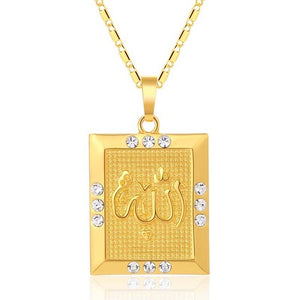 Trendy Fashion Middle East Islam Religious Muslim pendant necklace for Gold /Silver color boys/girls Allah jewelry accessories