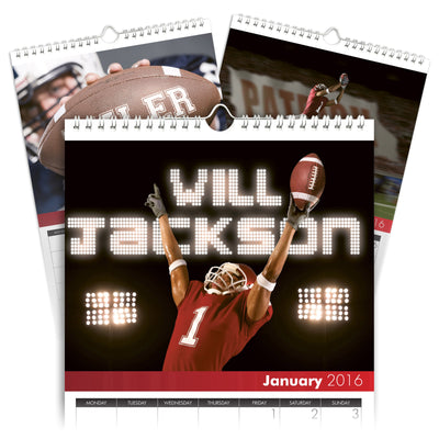 Personalized Football Calendar