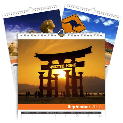 Personalized Around the World Calendar