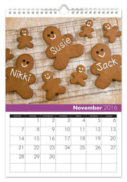 Personalized Family Calendar for 3 Names